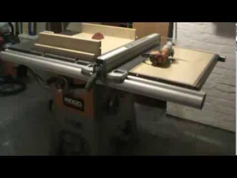 Ridged r 4512 table saw sled and router homemade combination