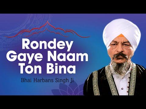 Bhai Harbans Singh Ji - Rondey Gaye Naam Ton Bina (Vyakhya Sahit...