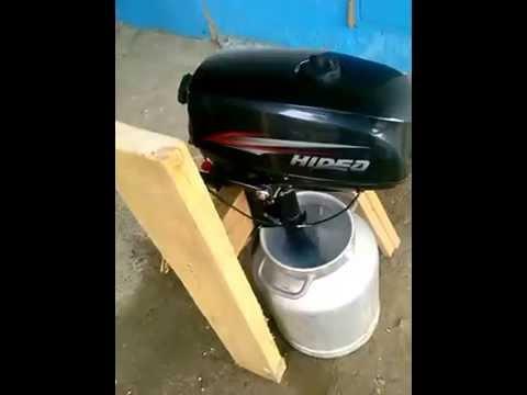 обкатка в бочке лодочного мотора