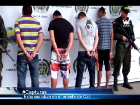 Por presunta extorsión capturan a cuatro integrantes de banda delincuencial