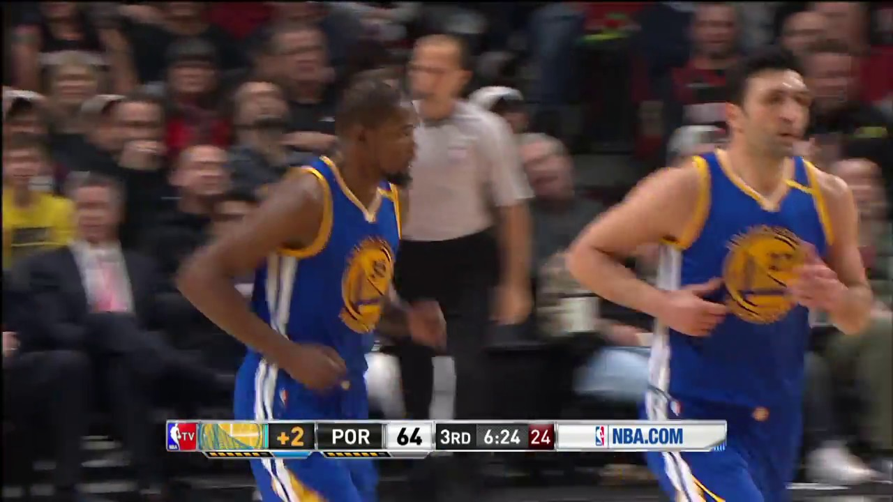 Golden State Warriors at Portland Trail Blazers - January 29, 2017