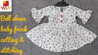 baby frock cutting & stitching tutorial in hindi | baby Frock| w2w boutique