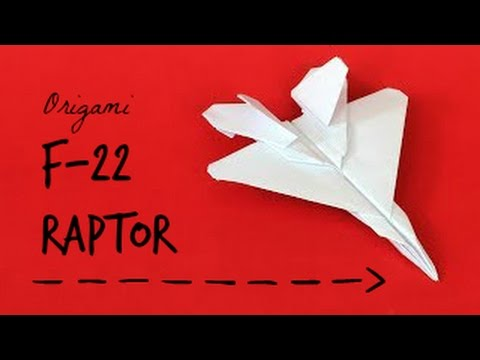 How to Make an Origami F-22 Raptor Paper plane