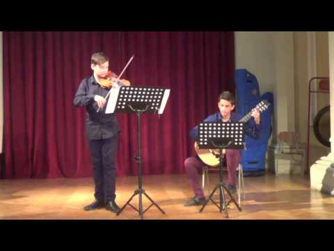 N.PAGGANINI - SONATA CONCERTATA IN A MAJOR  - ILIAS NACHMIAS (VIOLIN) & THANASSIS KATSIKIS (GUITAR)
