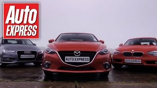 Mazda 3 vs Audi A3 & BMW 1 Series group test