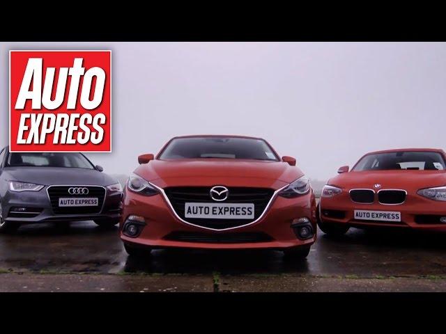 Mazda 3 vs Audi A3 & BMW 1 Series group test - YouTube