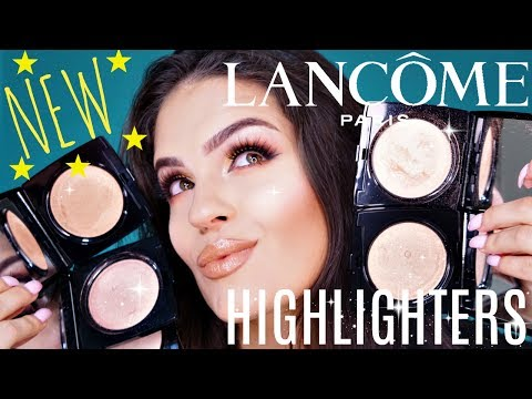 NEW LANCOME DUAL FINISH HIGHLIGHTERS REVIEW & FIRST IMPRESSION & SWATCHES   Julia Salvia