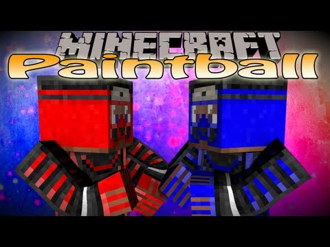 Minecraft Mini Game: Paintball Multiplayer /w Friends! (Mod not plugin)