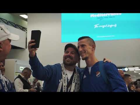 BANÍK NA MALTĚ / Mužstvo na letišti vítali fanoušci