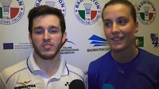 Campionati Italiani Assoluti 2019 | Doppio Misto, le parole dei finalisti