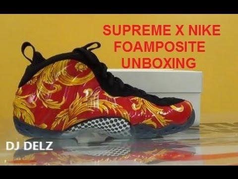 Supreme x Nike Foamposite One Red Sneaker HD Unboxing W/ DJ Delz @DjDelz  + New Info On Adidas Yeezi