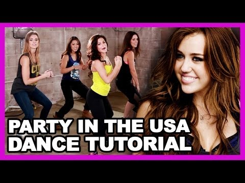 Miley Cyrus party In The Usa Dance Tutorial - Clevver Breakdown video
