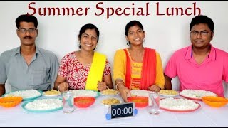 Summer Special Lunch Eating Challenge     Food Challenge India    Eating Show