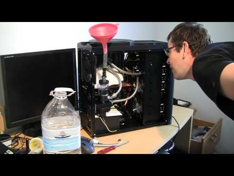 How to Fill Watercooling Loop and Leak Test  the System - Low Cost Build. Part 9