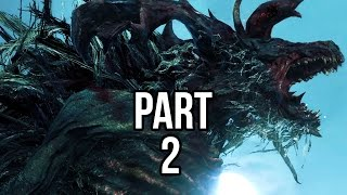 Bloodborne Walkthrough Gameplay Part 2 - Cleric Beast Boss (PS4)