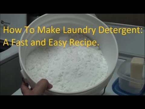 How To Make Laundry Detergent The Easy Way - Household Tip #1