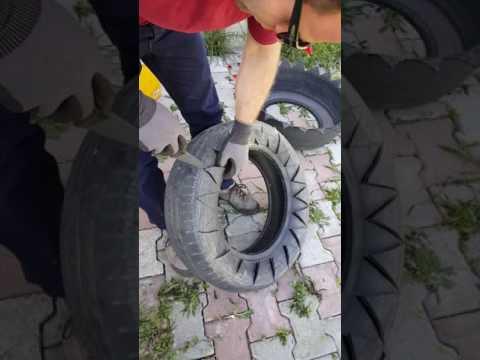 Araba lastiğinden saksı nasıl yapılır