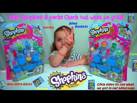 Shopkins 12 packs Looking for limited editions Opened new Shopkins for collection!
