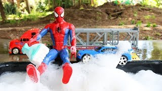Car Wash With Spiderman | Video For Kids.