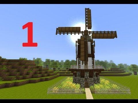 Minecraft Tutorial Mittelalter Mühle Teil 1/2 (deutsch)