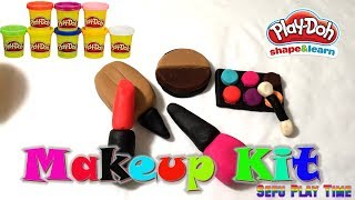 Play Doh Makeup Set How to Make Eyeshadow Lipstick Nail Polish with Play Doh Fun for Kids