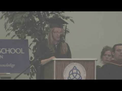 Courtney Morin, Trinity School at Greenlawn Graduation 2014: Be More Than You Can Be - 06/25/2014