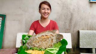 Vlog 72 Bếp Tui Làm Cá Tai Tượng Chiên Xù Món Ngon Miền Tây  Hồ Thùy Dương Vlog