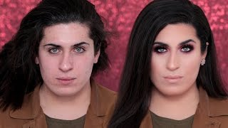 Transgender Make-up Transformation | Jolina Mennen | Holiday Make-up | Hatice Schmidt