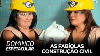 As Fabíolas encaram dia de trabalho na construção civil