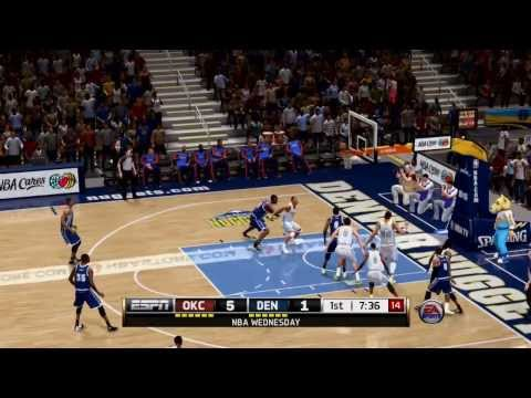 NBA Oklahoma City Thunder vs Denver Nuggets - 1st Qrt - NBA Live 14 PS4 - HD