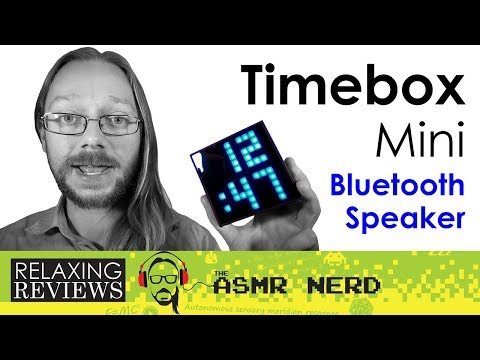 RELAXING REVIEWS | Divoom Timebox Mini Pixel Art Bluetooth Speaker