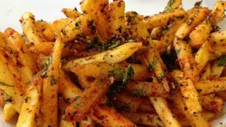 Masala French Fries Recipe  II Aloo Finger Chips II French Fries Restaurant Style