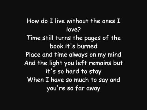 Avenged Sevenfold - So Far Away Lyrics video