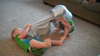 Funny Twin Babies Playing Together Compilation (2017)