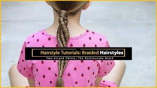 Hairstyle Tutorials: Twist Braid - Bundle of twist braid weaving