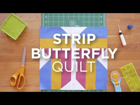 Quilt Snips Mini Tutorial - Strip Butterfly