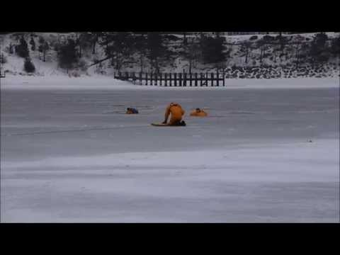 ICE RESCUE     Firefighters try to save man and his dog from Cotuit Bay