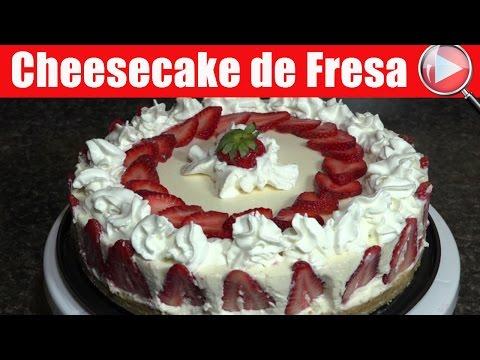 Cheesecake de Fresa / Recetas de Postres - Recetas en Casayfamiliatv