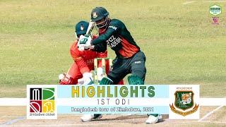 Zimbabwe vs Bangladesh Highlights || 1st ODI || Bangladesh tour of Zimbabwe 2021