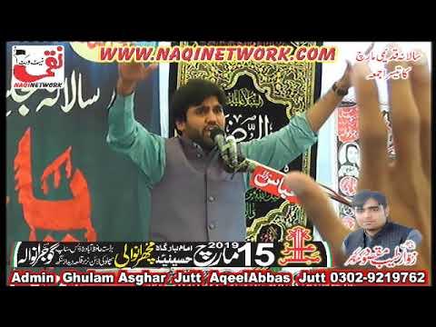 Zakir Malik Qalab Abbas Alvi 15 March 2019 Majlis Aza Muchranwali Gujranwala