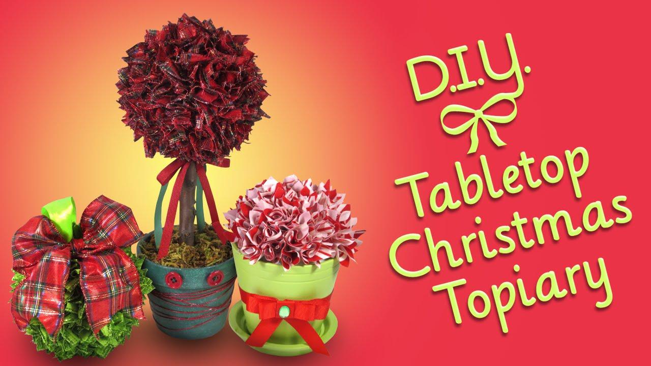 Diy Ribbon Christmas Tree Ornament Diy Christmas Tree Ribbon