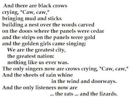 a poem analysis of chicago by carl sandburg A classic poem read by author and audiobook producer, charles bice.