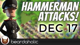 Boom Beach Lt. Hammerman Iceless Defensive Gameplay for Stages 1-7 on Dec 17, 2018