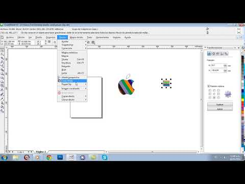 crear logo de apple en corel draw x3 (aplicar powerclip) parte 2