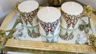 Personalised Mini Candles- Islamic/Arabesque Theme