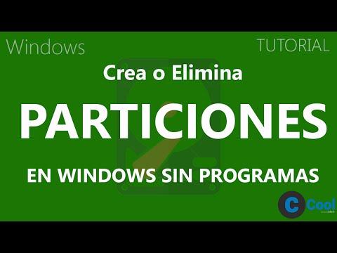 Como crear y/o eliminar particiones en Windows sin programas   TUTORIAL   CoolMach