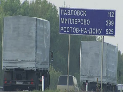 Raw: Aid Convoy Reportedly Headed for Ukraine