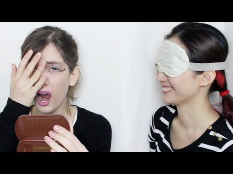 Blindfold Makeup Challenge 目隠しメイクチャレンジ