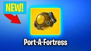 NEW PORT-A-FORTRESS GAMEPLAY IN FORTNITE! NEW FORTNITE UPDATE! (Fortnite Battle Royale)