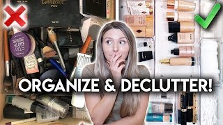 MAKEUP ORGANIZATION **DECLUTTER WITH ME**